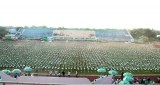 Vĩnh Long: Hơn 6.000 học sinh tiểu học tham gia đồng diễn thể dục xác lập kỷ lục