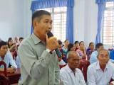 Cử tri Thạnh Hóa, Châu Thành quan tâm vấn đề giáo dục, môi trường
