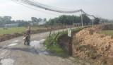 Thi công mương thoát nước, nguy cơ mất an toàn giao thông
