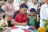 Cựu tuyển thủ Quốc gia Phan Văn Tài Em khai giảng lớp bóng đá cộng đồng