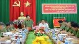 Thứ trưởng Bộ Công an - Nguyễn Văn Sơn làm việc tại Công an tỉnh Long An