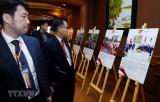 Trưng bày triển lãm ảnh '45 năm quan hệ ASEAN-Nhật Bản'