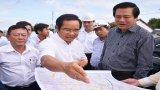 Bí thư Tỉnh ủy Long An - Phạm Văn Rạnh khảo sát công trình trọng điểm Đường tỉnh 830