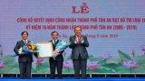 Phó Thủ tướng Thường trực Chính phủ-Trương Hòa Bình dự Lễ công nhận đô thị loại II và kỷ niệm 10 năm thành lập TP.Tân An