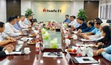 Đoàn công tác Long An thăm trụ sở Cty Huafu tại Chiết Giang (Trung Quốc)