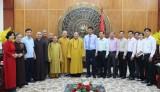Đoàn công tác Trung ương Giáo hội Phật giáo Việt Nam thăm, chào lãnh đạo tỉnh Long An