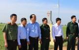 Đoàn công tác của Ban Tổ chức Tỉnh ủy thăm các trạm kiểm soát biên phòng trên tuyến biên giới Đức Huệ