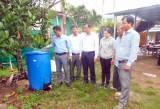 Châu Thành: Nghiệm thu mô hình thu gom, phân loại, xử lý rác thải sinh hoạt và xử lý rác hữu cơ làm phân bón tại hộ gia đình
