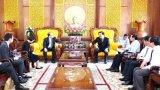 Tổng lãnh sự Singapore tại TP.HCM chào xã giao lãnh đạo tỉnh Long An