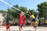 Giao lưu bóng chuyền với các đơn vị bảo vệ biên giới Campuchia