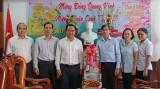 Thường trực Tỉnh ủy thăm và chúc mừng Báo Long An nhân dịp Xuân Canh Tý 2020