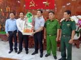 Phó Chủ tịch UBND tỉnh Long An - Nguyễn Văn Út chúc tết huyện Cần Giuộc