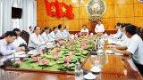 Chủ nhiệm Ủy ban Kiểm tra Trung ương - Trần Cẩm Tú làm việc tại Long An