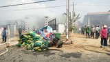 Vĩnh Hưng: Cháy kho rơm tại xã Vĩnh Bình