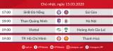 Lịch thi đấu bóng đá hôm nay (15/3): Hà Nội FC, TPHCM và HAGL ra sân