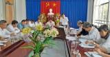 Đoàn công tác Tỉnh ủy kiểm tra công tác chuẩn bị tổ chức Đại hội Đảng tại Tân Hưng