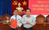 Ông Dương Văn Tuấn được điều động giữ chức vụ Bí thư Huyện ủy Mộc Hóa