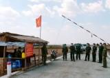 Bộ đội Biên phòng Long An kiểm tra chốt phòng, chống dịch Covid-19 trên tuyến biên giới