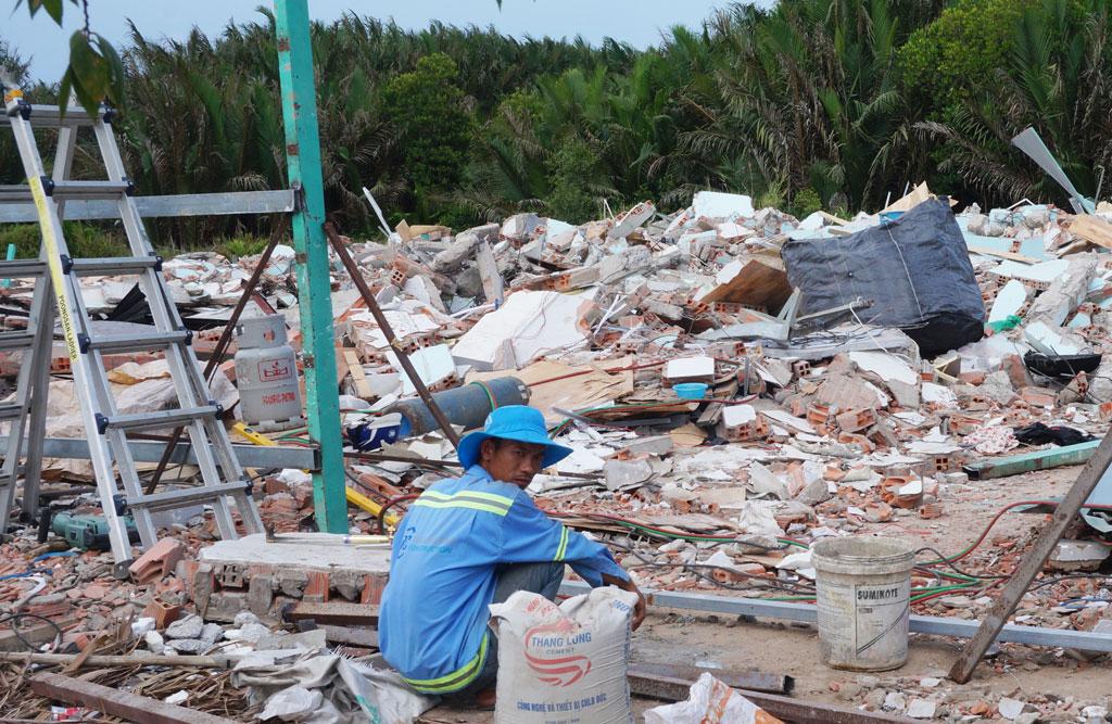 Một trường hợp vi phạm trong lĩnh vực xây dựng bị cưỡng chế tháo dỡ