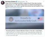 Ngoại trưởng Mỹ: Yêu sách của Trung Quốc về Biển Đông là phi pháp và nguy hiểm