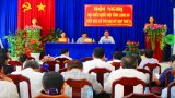 Đoàn Đại biểu Quốc hội tỉnh Long An tiếp xúc cử tri huyện Cần Đước