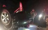 Bỏ chạy khi gặp công an, xe ô tô lật trên đường cùng nửa tạ ma túy