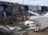 Cà Mau: Sạt lở đất gây thiệt hại 14 nhà dân ở huyện Năm Căn