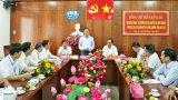 Bộ trưởng Bộ TN&MT - Trần Hồng Hà làm việc tại Sở TN&MT Long An