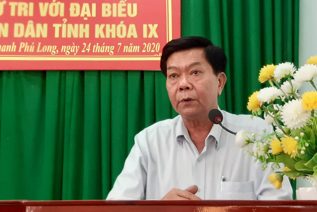Chairman of the Provincial People's Committee - Tran Van Can meets voters of Chau Thanh district