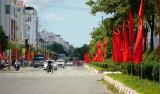 TP.Tân An rực rỡ cờ hoa mừng Đại hội