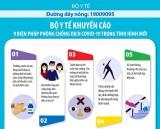Bộ Y tế khuyến cáo 9 biện pháp phòng chống dịch Covid-19 trong tình hình mới