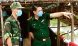 Chính ủy BĐBP tỉnh Long An kiểm tra công tác phòng, chống dịch Covid – 19
