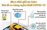 [Infographics] Mẹo nhỏ giữ an toàn khi đi xe công nghệ thời COVID-19