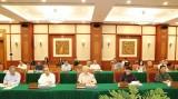 Tập thể Bộ Chính trị làm việc với Thường vụ Quân ủy Trung ương