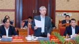Ông Trần Quốc Vượng chủ trì phiên họp Tiểu ban Tổ chức phục vụ Đại hội XIII