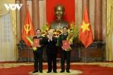 Thăng quân hàm cấp Thượng tướng cho 2 Thứ trưởng Bộ Quốc phòng