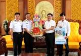 Đoàn công tác Bộ Tư lệnh Vùng 5 Hải quân đến thăm, chúc tết tại Long An
