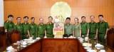 Đoàn lãnh đạo Công an TP.HCM thăm, chúc tết Công an tỉnh Long An