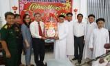 Lãnh đạo tỉnh Long An thăm, chúc tết các cơ sở tôn giáo tại tỉnh Tiền Giang và Bến Tre