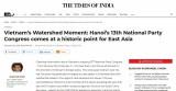 Dư luận Ấn Độ: Đại hội XIII Đảng Cộng sản Việt Nam giúp nâng tầm định hướng