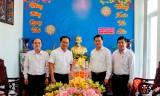 Bí thư Tỉnh ủy Long An - Nguyễn Văn Được chúc tết Huyện ủy Cần Đước