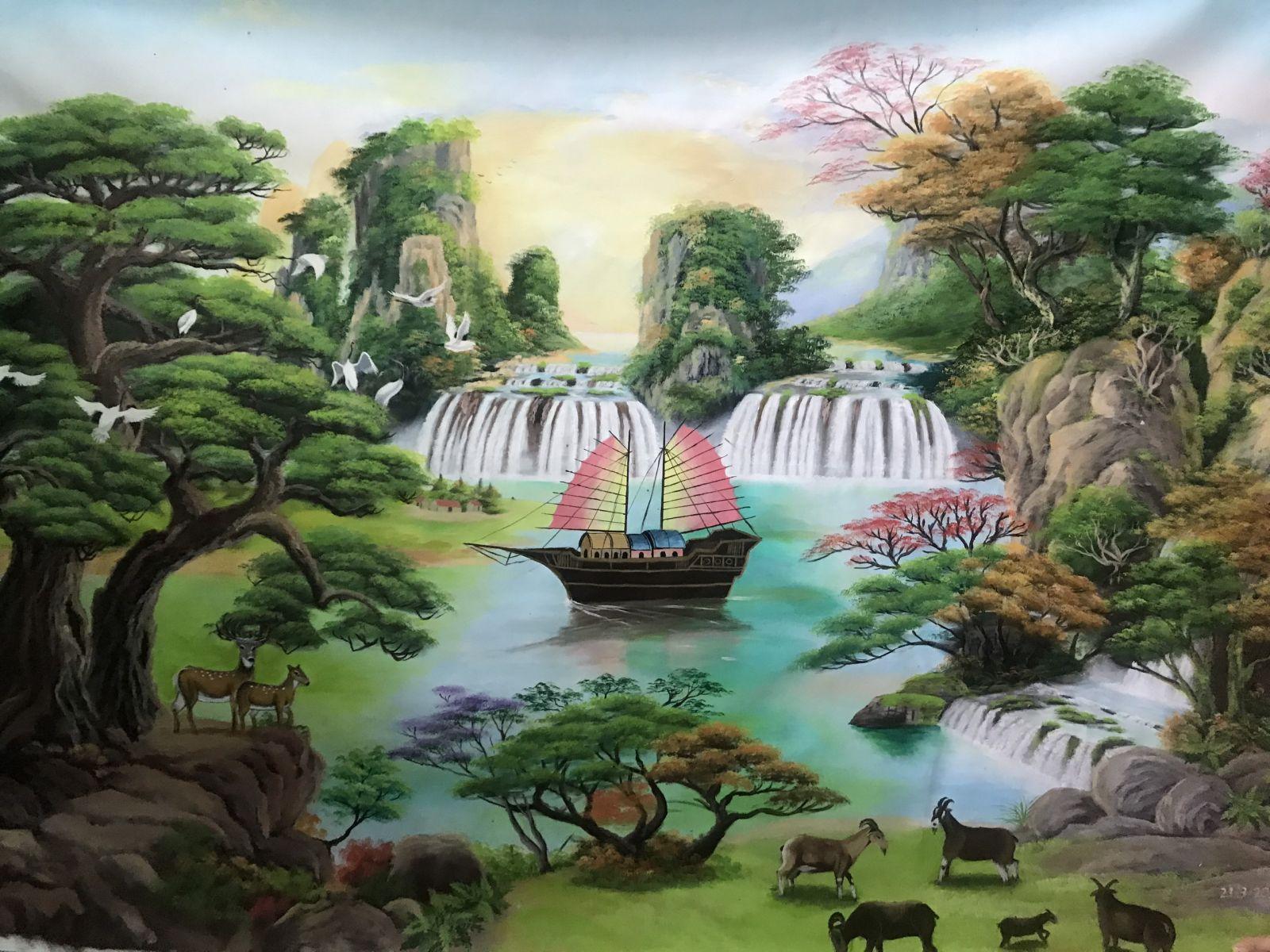 Những bức tranh chứa đựng tình cảm, tâm huyết của Trần Thái Huy