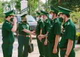 Đoàn công tác Bộ Tư lệnh Bội đội Biên phòng kiểm tra công tác quản lý, bảo vệ biên giới Long An