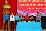 Bộ Chỉ huy Quân sự tỉnh ký kết liên tịch với các đoàn thể quần chúng