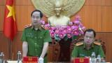 Đoàn Kiểm tra Bộ Tư lệnh Cảnh sát cơ động đến làm việc với Công an tỉnh Long An