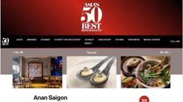 Hai nhà hàng Việt Nam lọt vào top ngon nhất châu Á