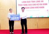 Phó Bí thư Thường trực Tỉnh ủy Long An tặng quà hộ khó khăn huyện Cần Đước