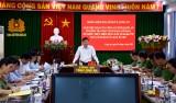 Phó Bí thư Thường trực Tỉnh ủy Long An – Nguyễn Thanh Hải kiểm tra công tác bảo đảm ATGT tại Công an tỉnh