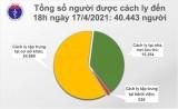 Chiều 17/4, Việt Nam ghi nhận 8 ca mắc COVID-19 là người nhập cảnh