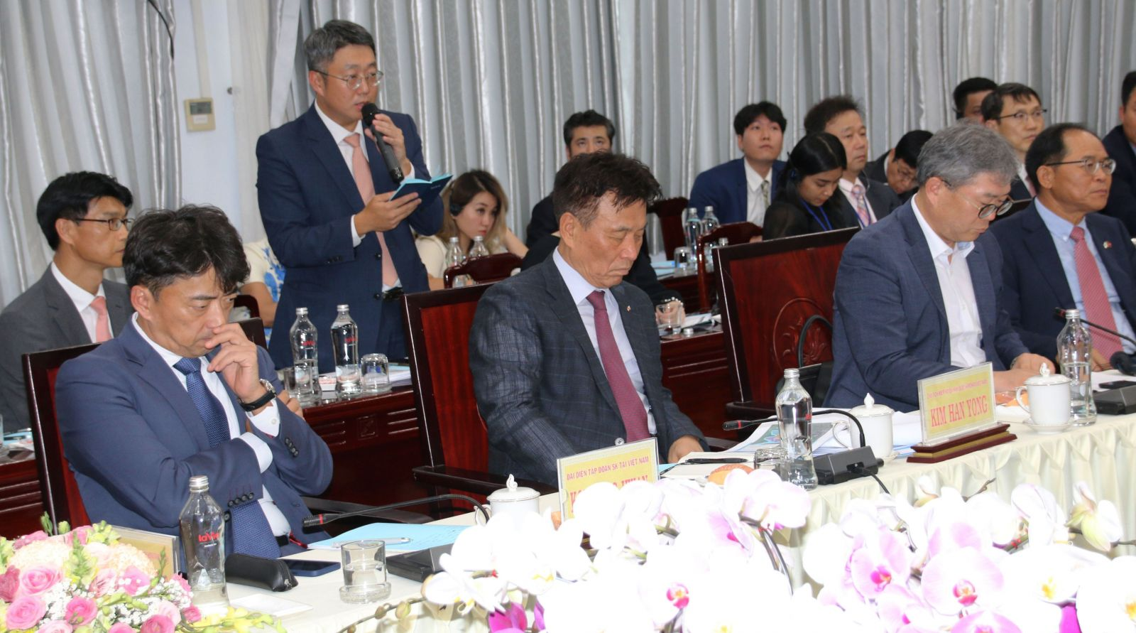 The working session helps the provincial leaders and the delegation of Korean officials and businesses to discuss more about investment needs